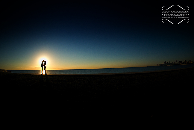 Chicago Engagement Session Skyline Sunrise
