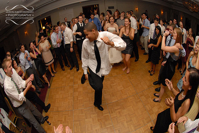 Cutting up the dance floor