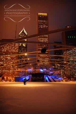 Frank Ghery Millenium Park Chicago Illinois Winter