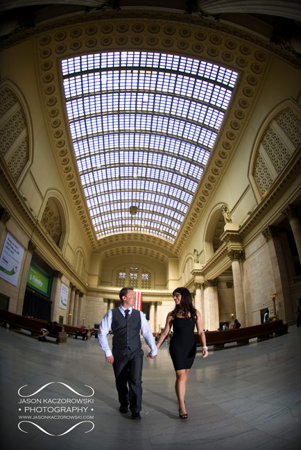 Engagement Session picture at Union Station