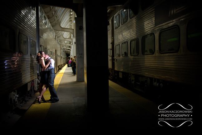 photojournalism engagement session photography Union Station Chicago