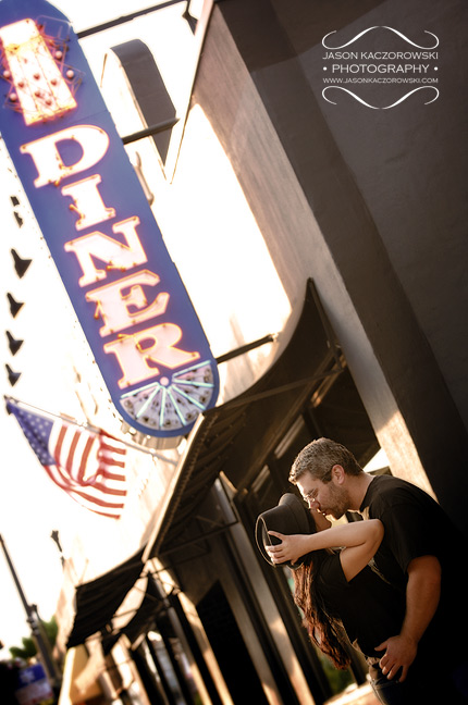 Chicago Diner Engagement Session Photos