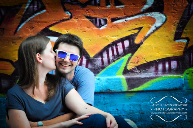 Graffiti Engagement Session Photo