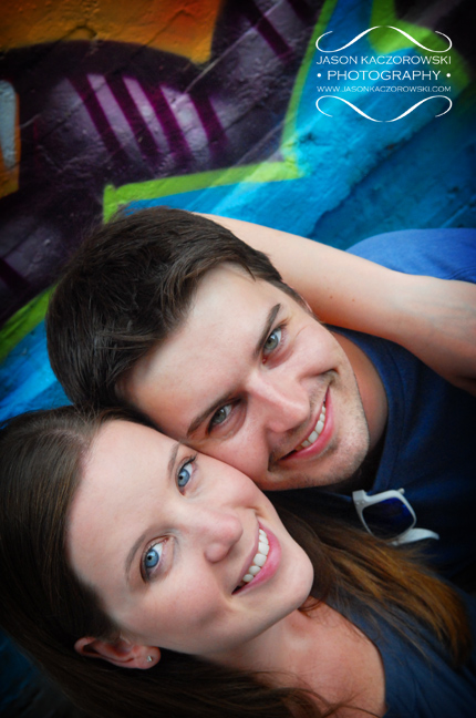 Graffiti Engagement Session Photos