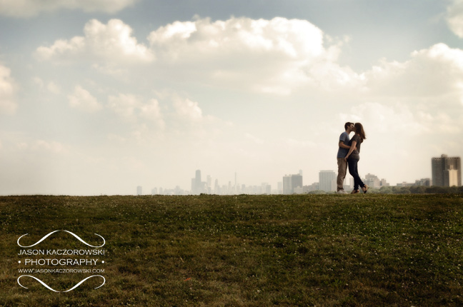 Lake Michigan Chicago Engagement Picture