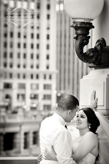 Michigan Avenue Bridge Wedding Photography