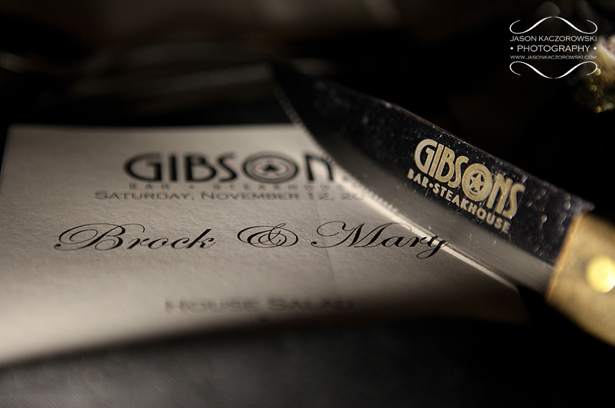 Gibsons on Rush St. Chicago Wedding Reception