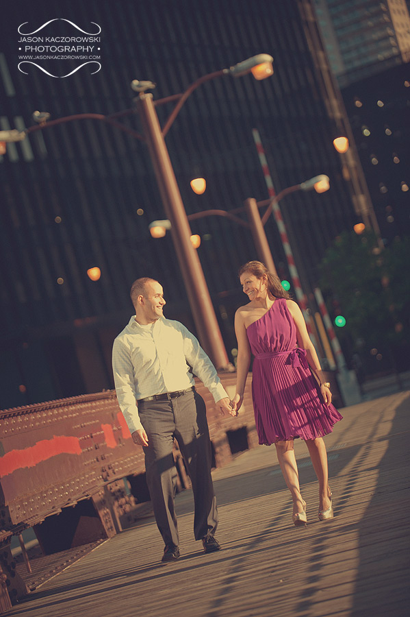 Chicago Bridge Engagement Pictures 7