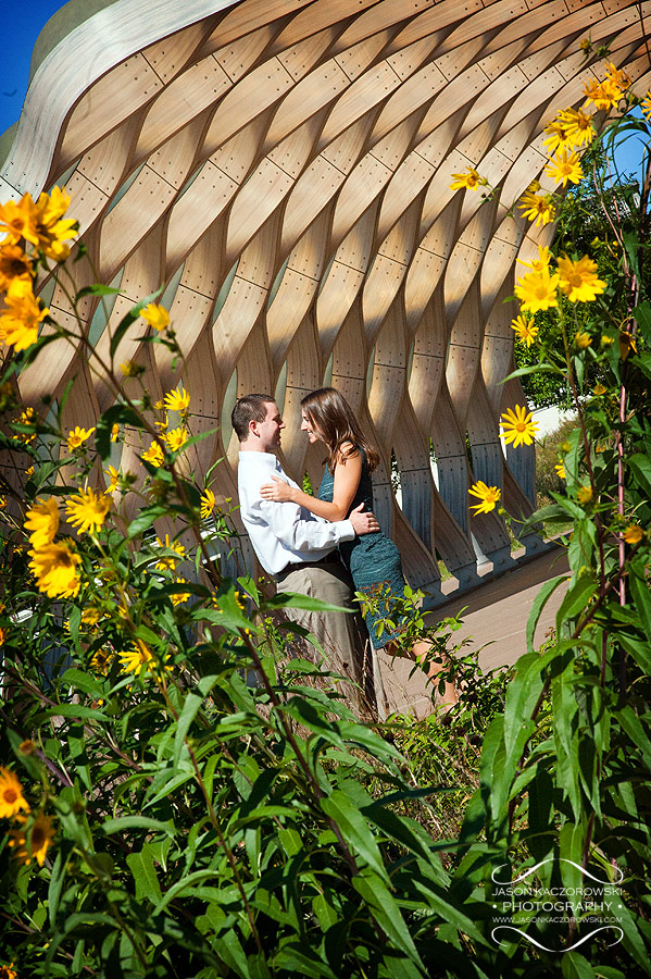 Chicago Engagement Photo at Lincoln Park Zoo's South Pond Pavilion