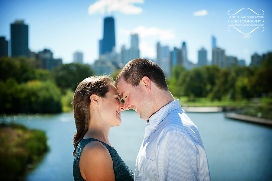 Chicago skyline engagement session photo