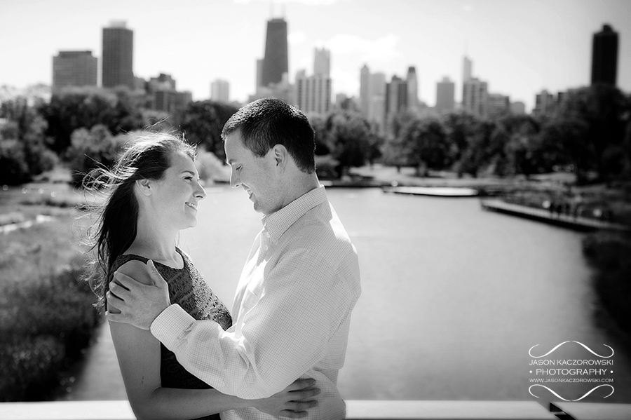 Chicago skyline engagement session picture