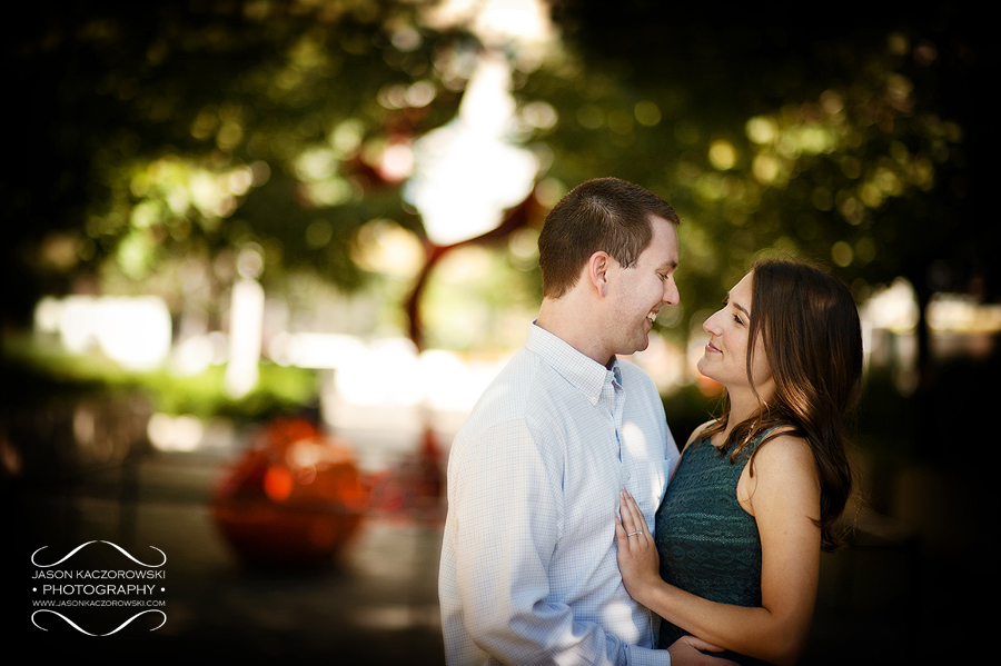 Engagement session in Chicago's Millennium Park