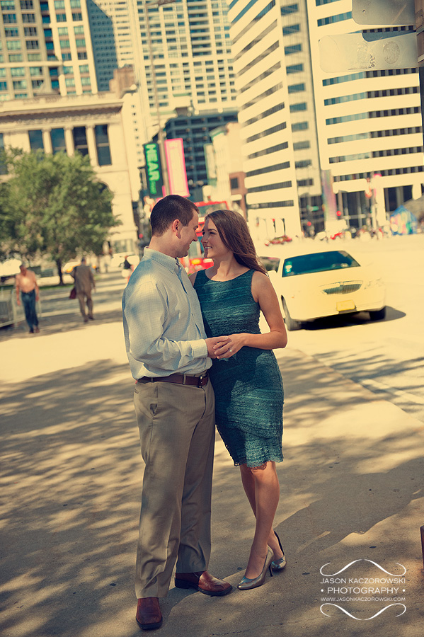 Chicago Engagement Photography on Michigan Avenue
