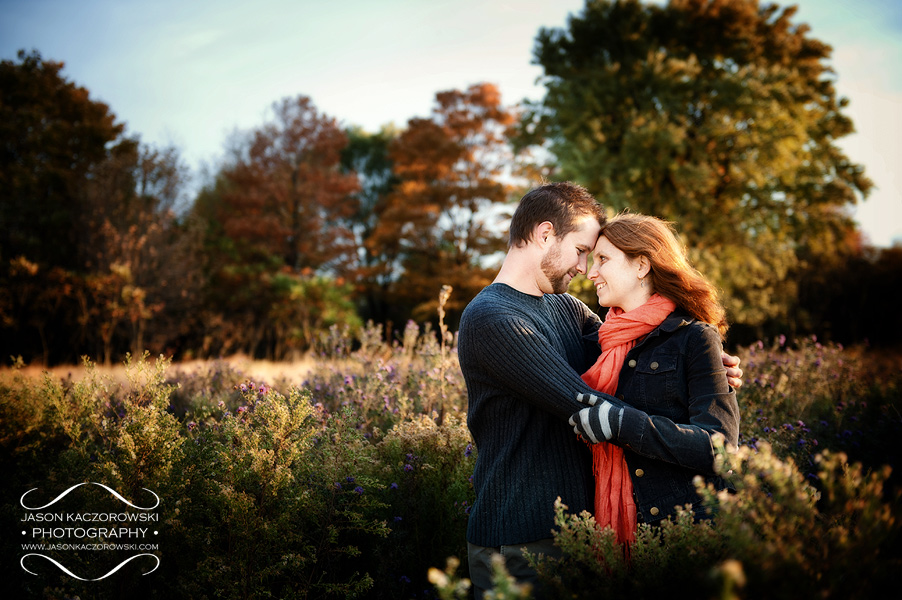 Montrose Harbor Fall Engagement Pictures