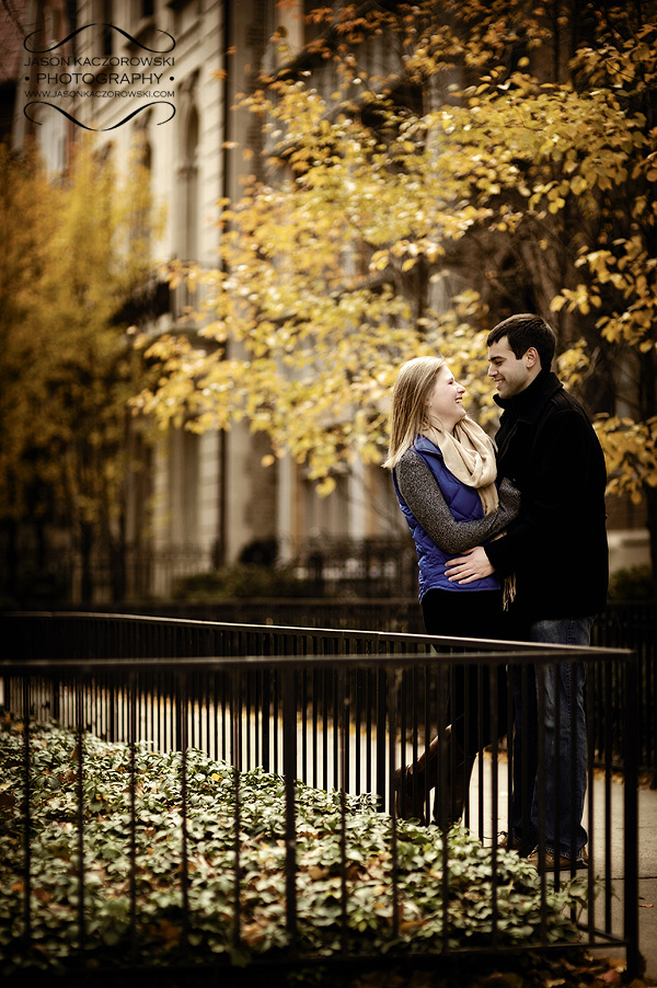 Chicago Fall Trees Engagement Session