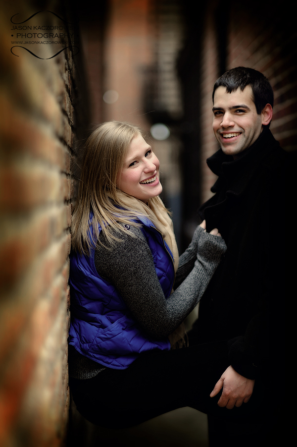 Brick Wall Chicago Engagement Session