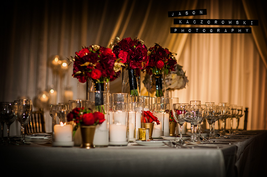 Vale of Enna wedding reception table floral