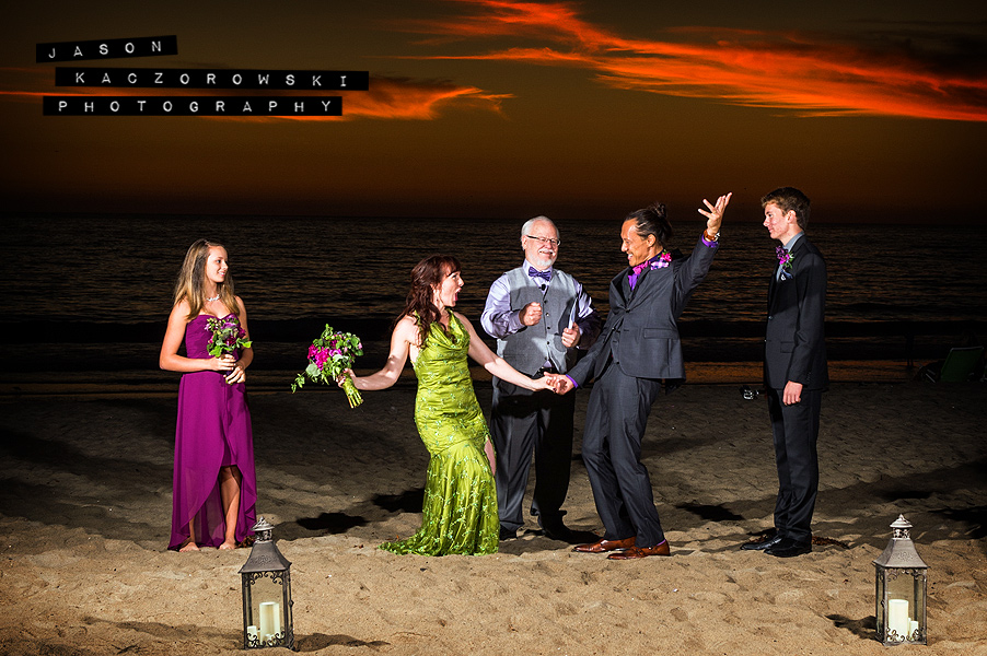 Sunset Beach Wedding Photo Santa Monica California Photographer