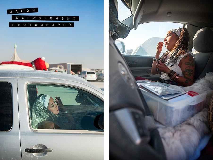 Burning Man 2015 Bride Make-Up Hair