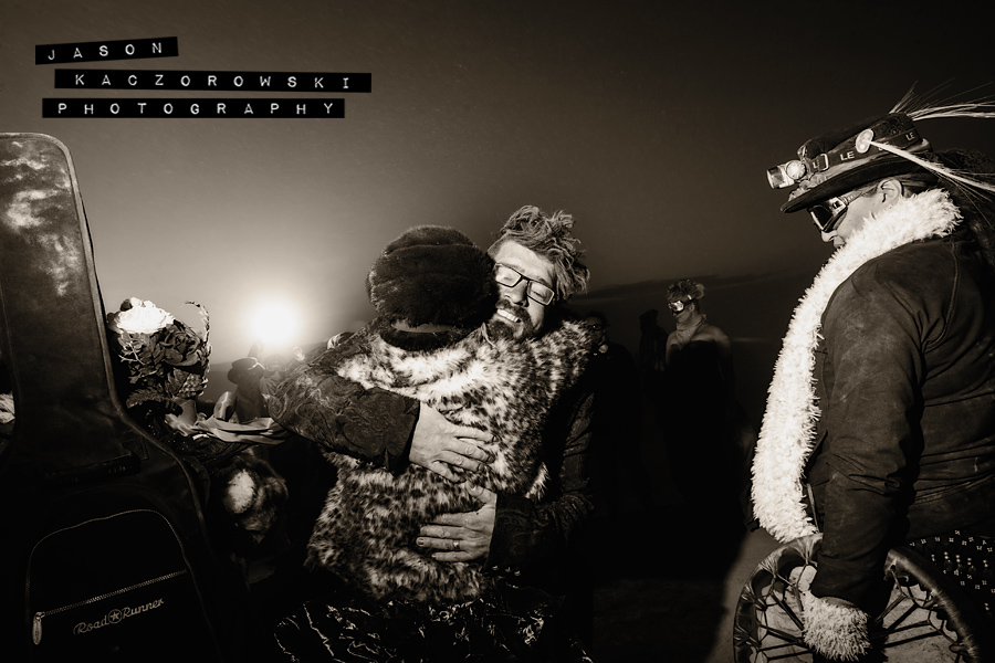 Bride Groom Groomsman Burning Man 2015
