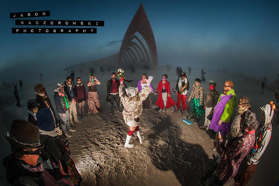 Burning Man Dust Storm Wedding Ceremony