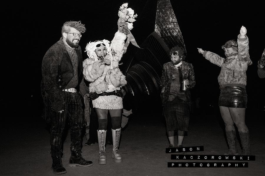 Bride Groom Burning Man 2015