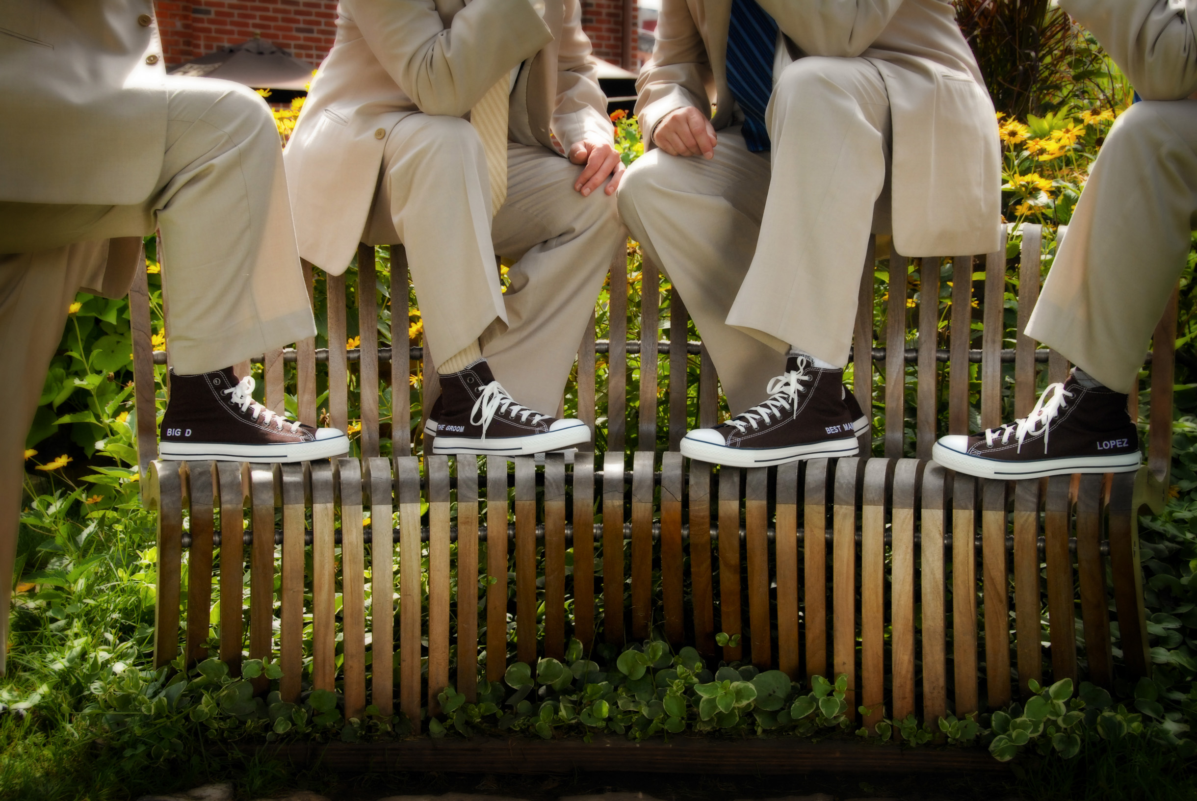 Personalized Groomsmen Converse All Star shoes inspiration