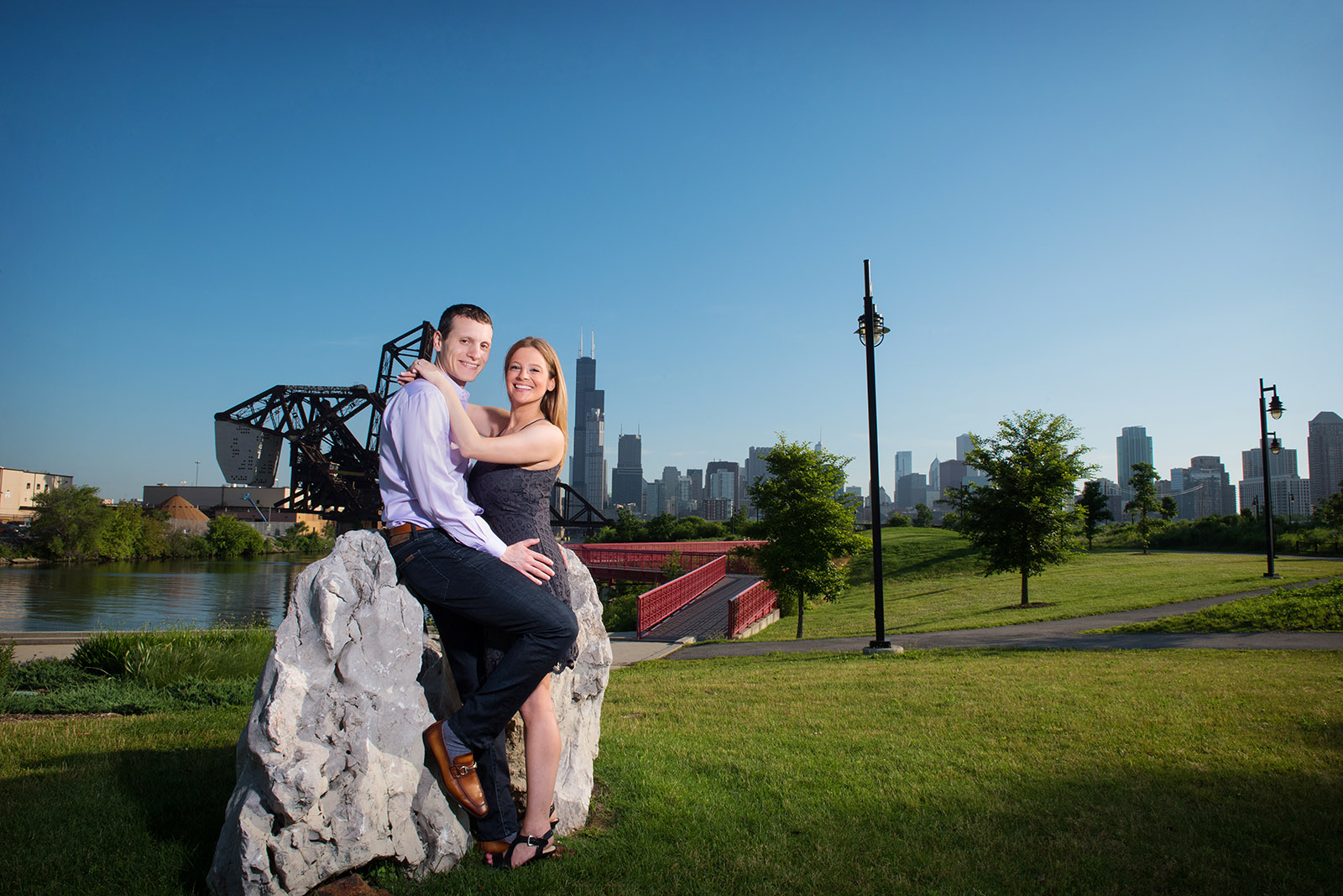 Spring Engagement Session in Chicago's Ping Tom Park