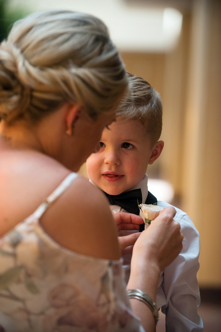Ring Bearer smiling