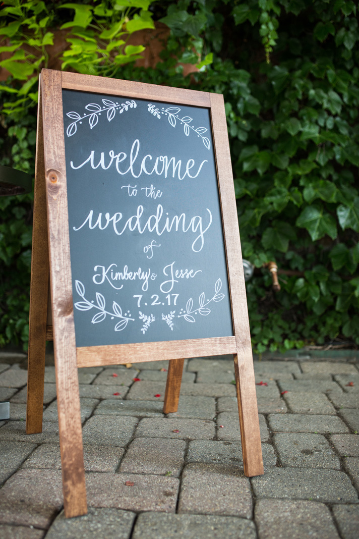 Welcome to Wedding Chalkboard A Frame Sign