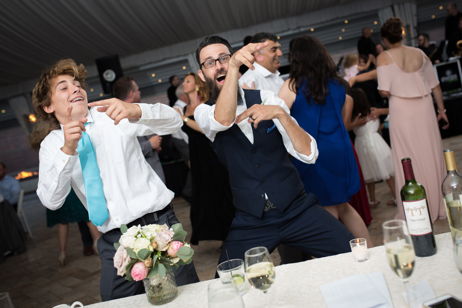 Funny Crazy dancing during wedding reception