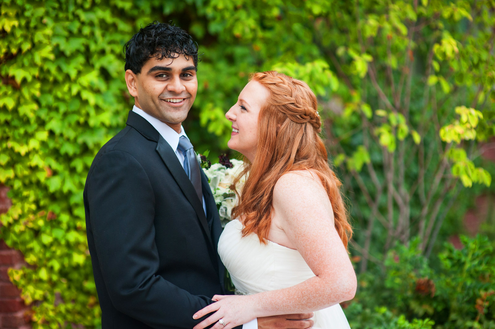Irish redhead bride with Indian groom