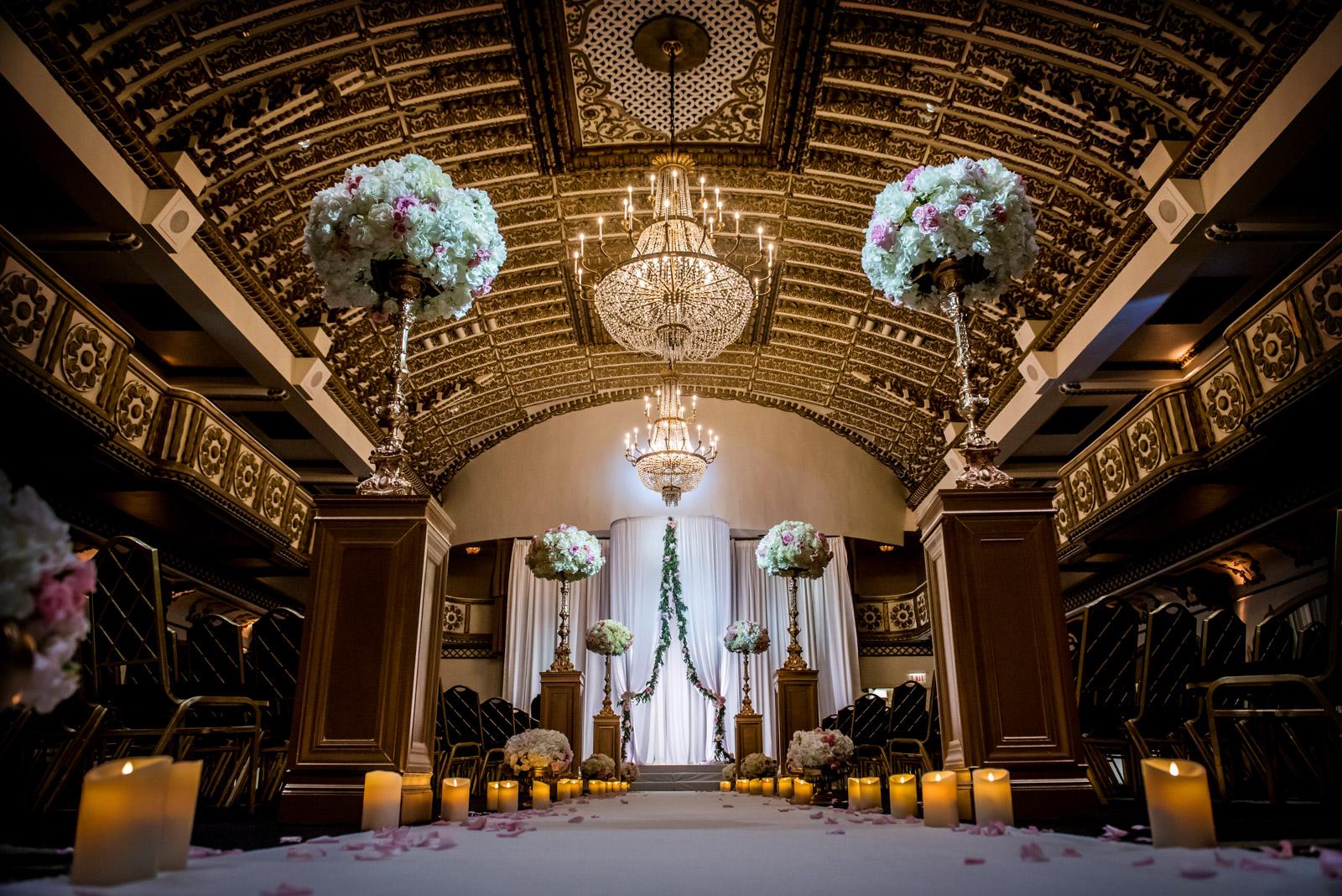 Millennium Knickerbocker Chicago Wedding Ceremony decor Inspiration