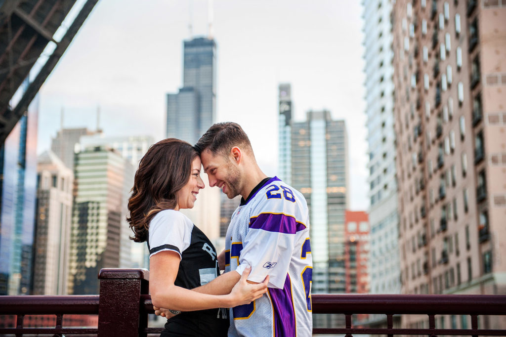 Kinzie Street Bridge Engagement Session Location in Chicago