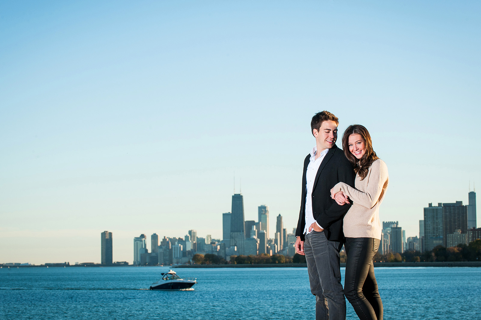 Montrose Avenue Beach Engagement Session Location in Chicago
