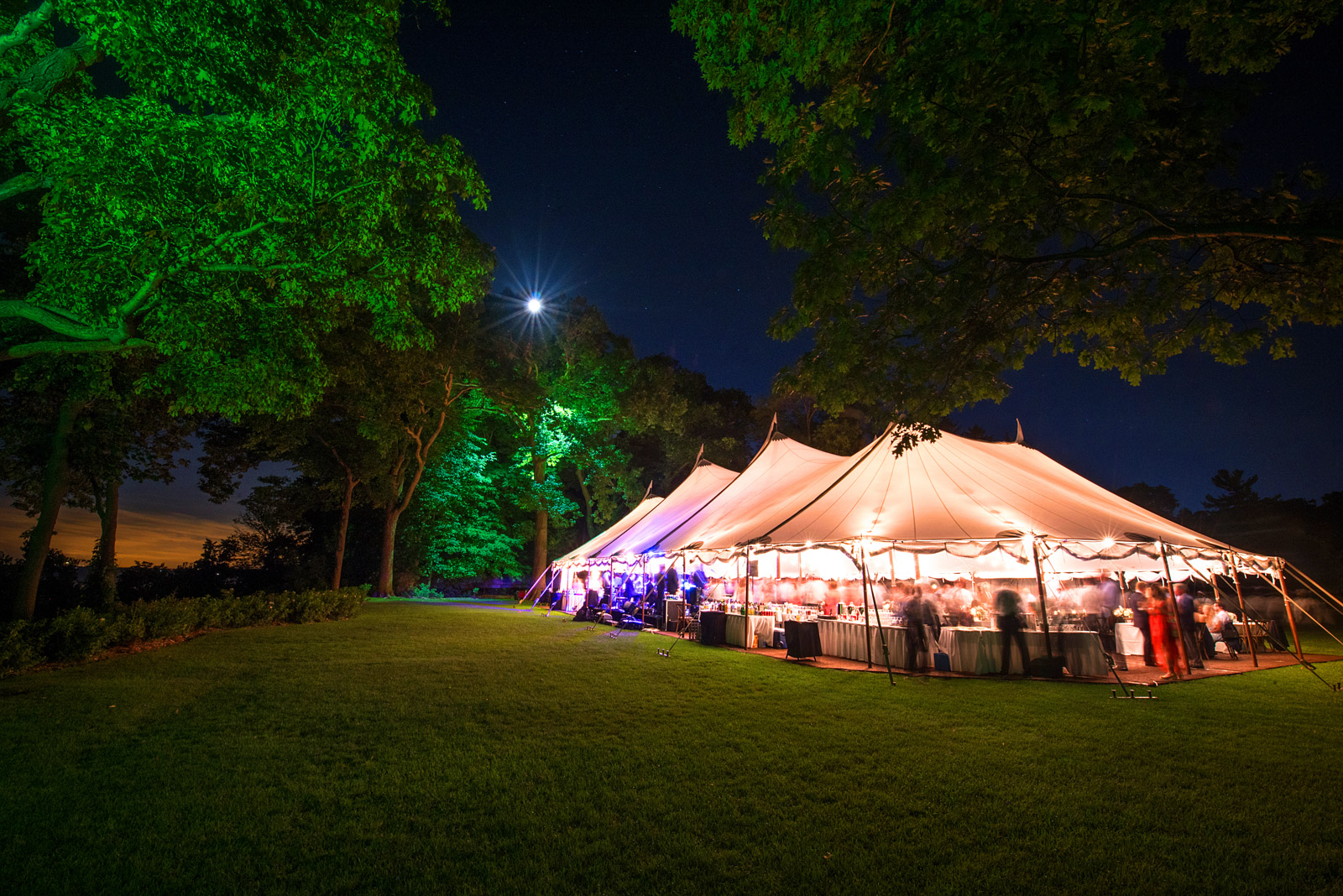 Tent wedding reception Shore Acres