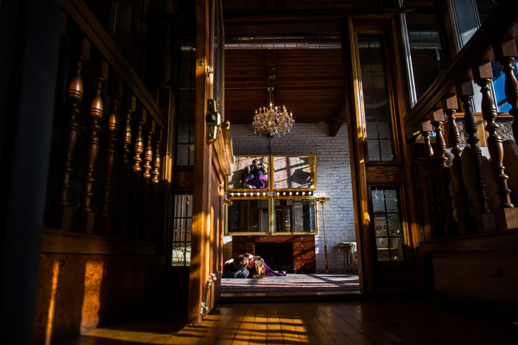 Salvage One Indoor Engagement Session Location in Chicago