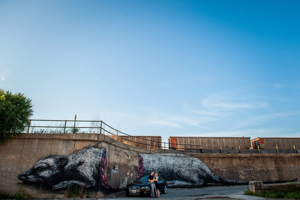 ROA Weasel Chicago Engagement Session Location in Pilsen