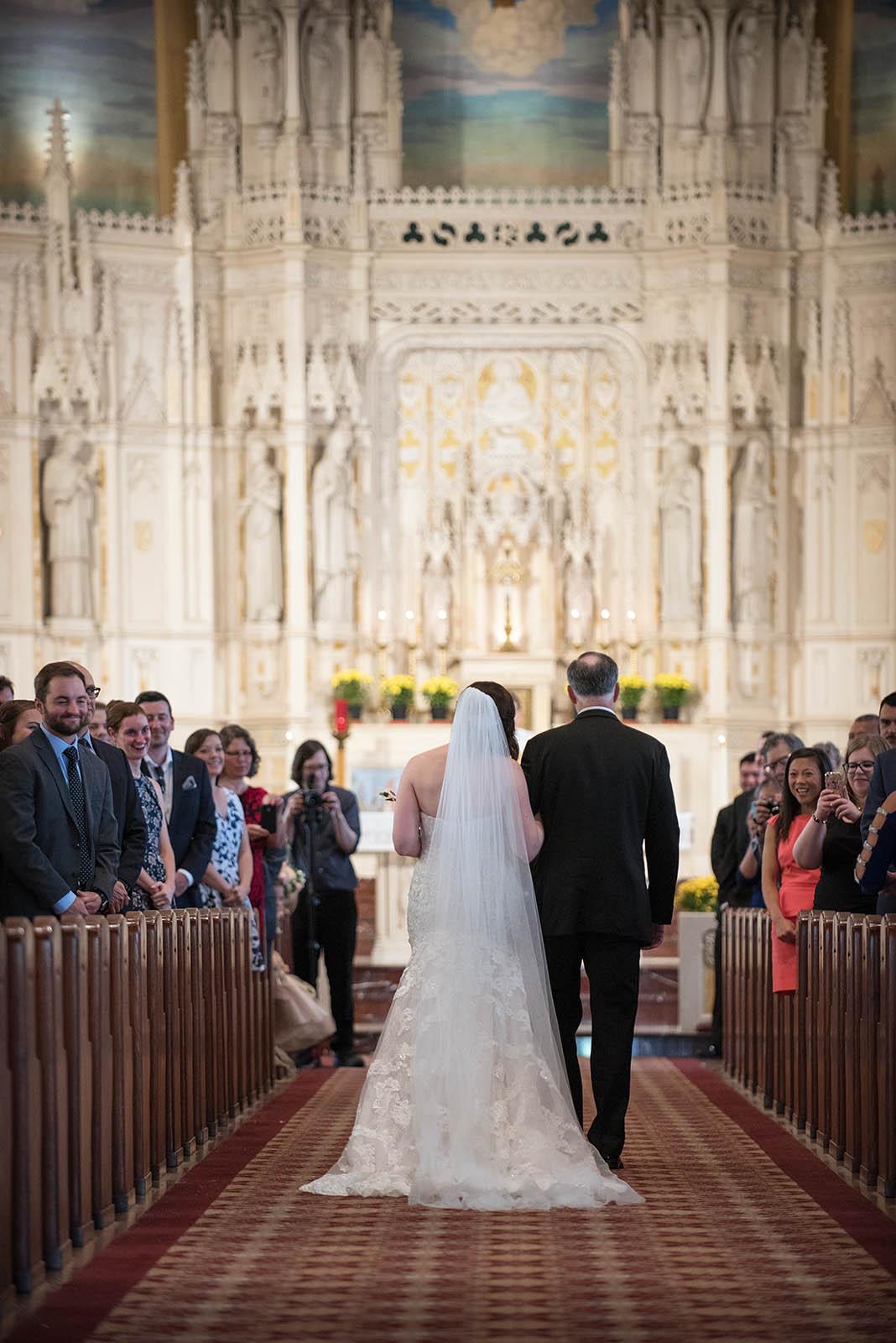 Father Bride Walking Wedding Ceremony