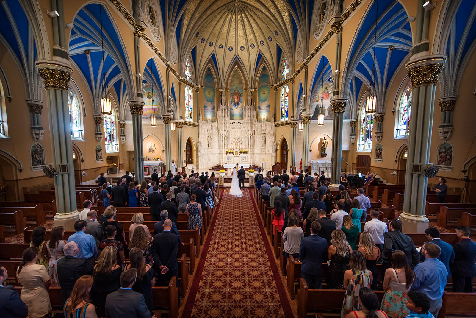 St Alphonsus Church Chicago Artistic Wedding Photo
