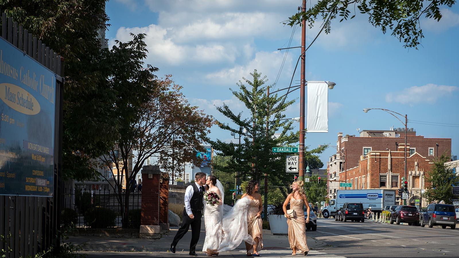 Bride Groom After Wedding walking street