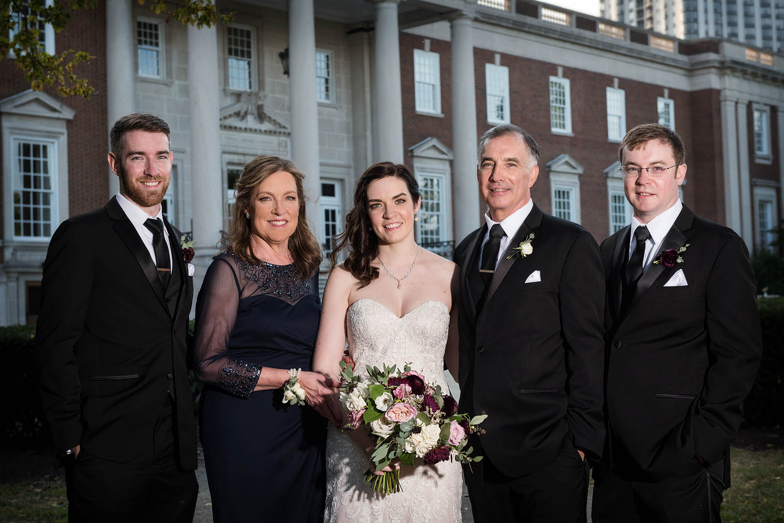 Chicago History Museum Wedding Family Photo