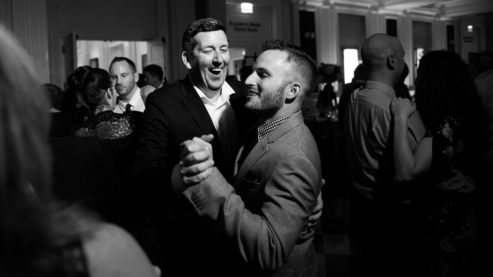Wedding Dancing Black White Men