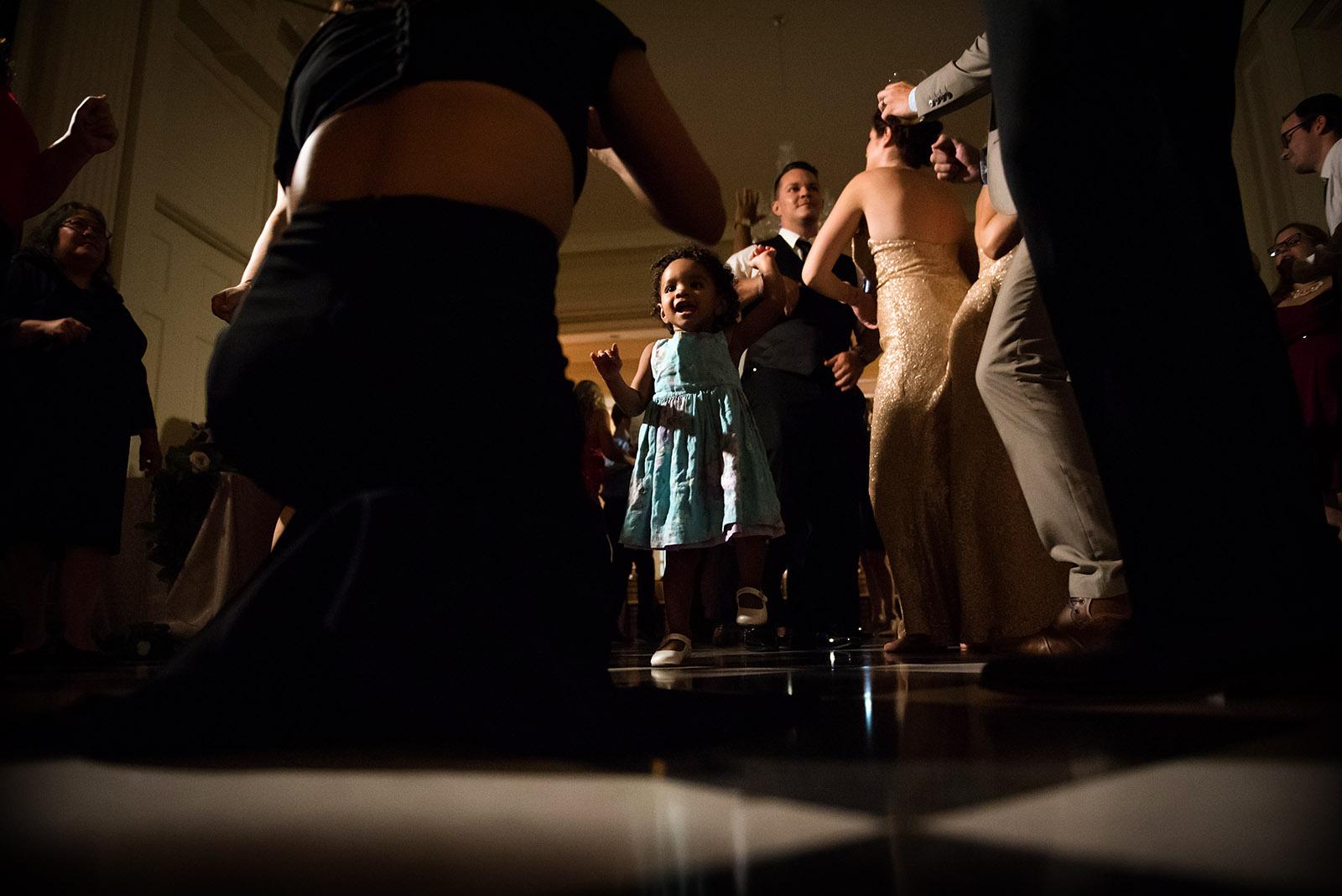 Tiny Girl Dancing Wedding Reception