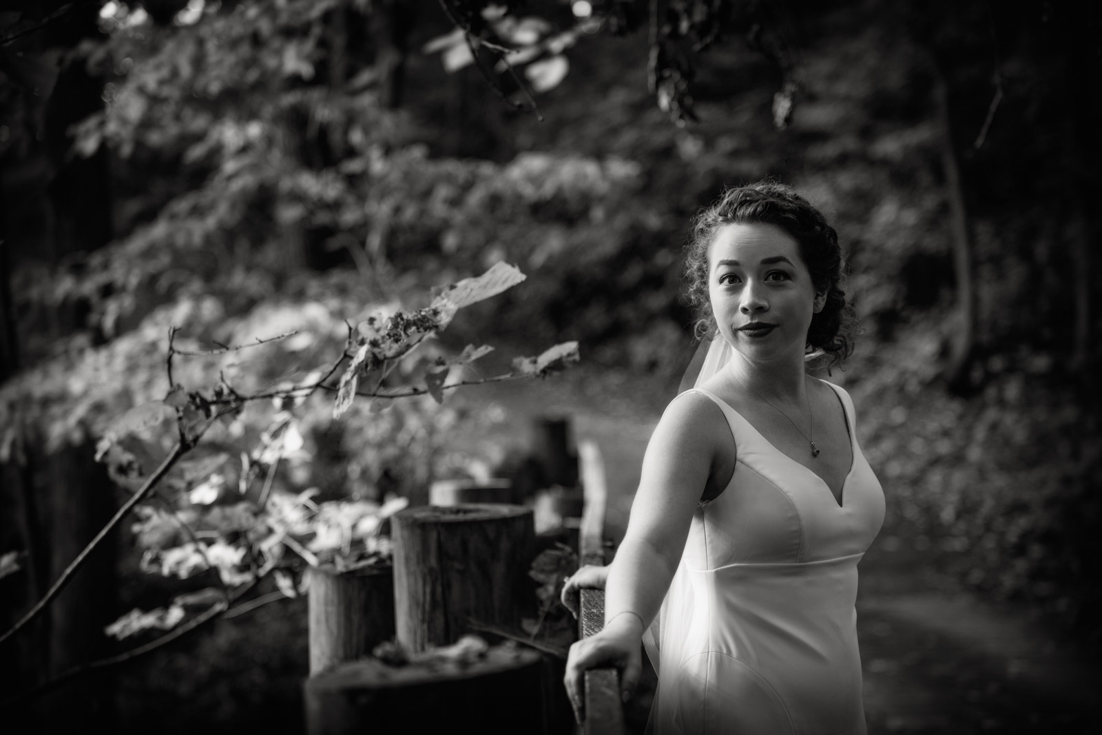 Black and White Bridal Portrait at Eagle Ridge Resort
