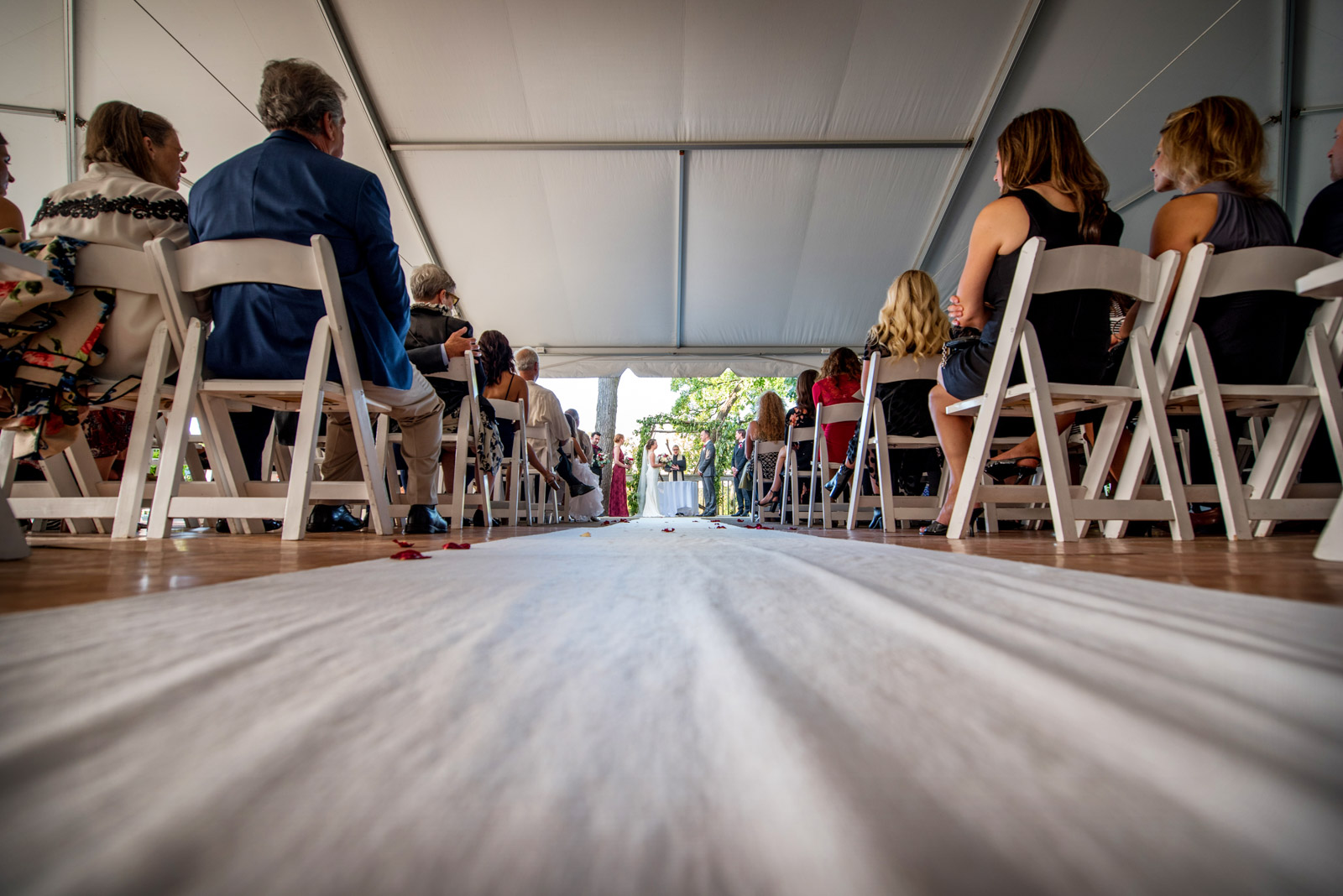 Wedding Ceremony Bridal Party Tent Eagle Ridge Resort