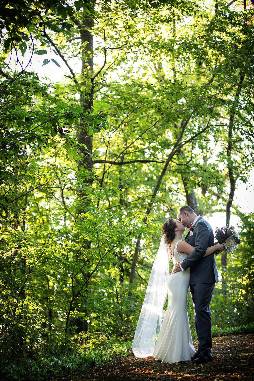 Outdoor Forest Green Wedding Ceremony