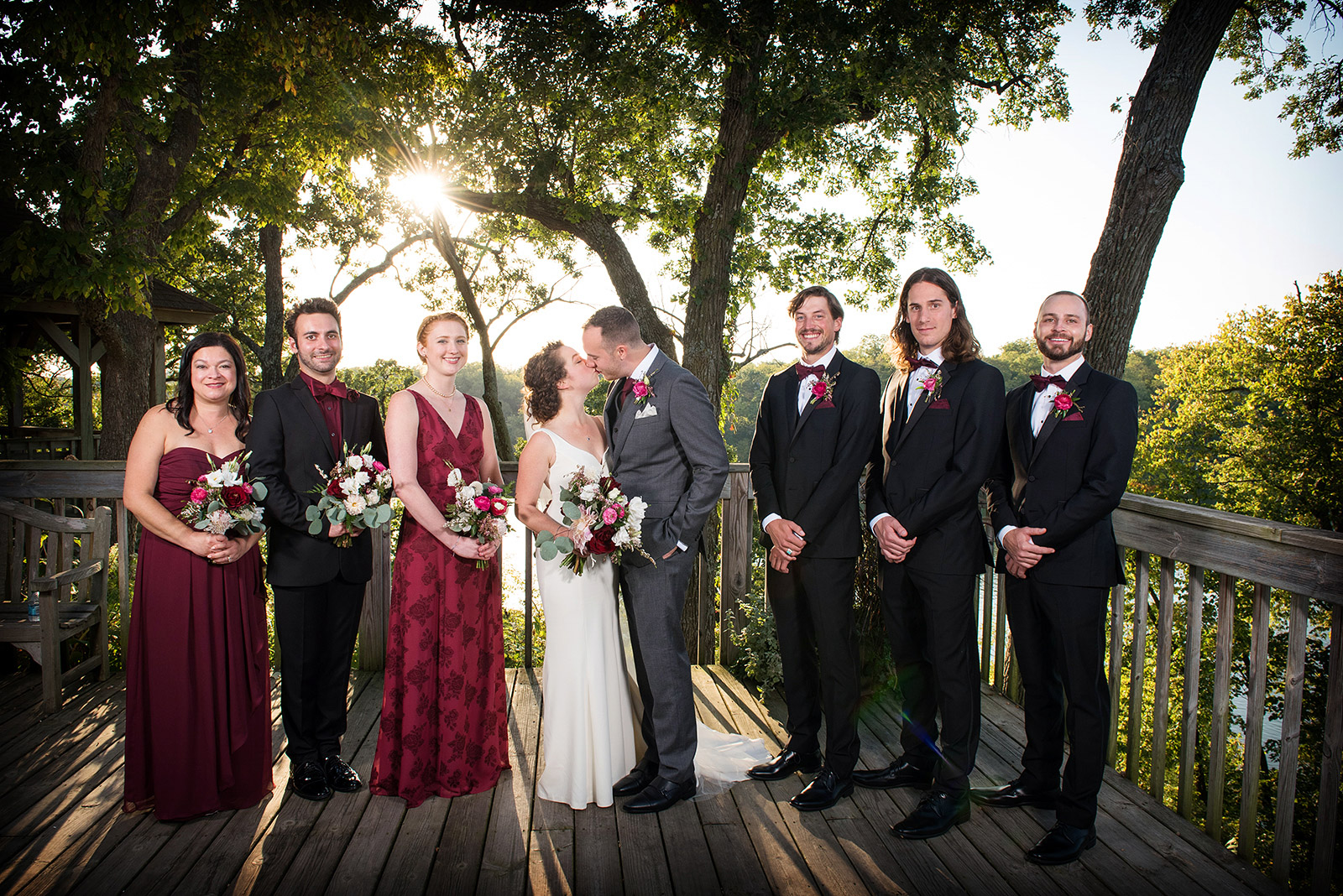 Wedding Party Sunset Portrait Galena