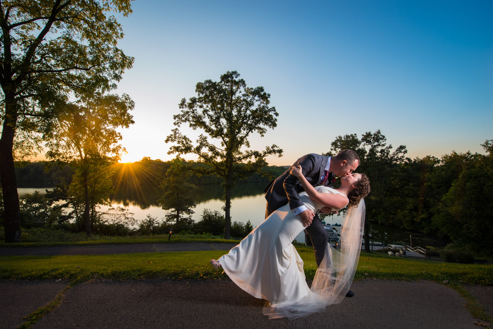 Bride Groom Dip Sunset Eagle Ridge Resort