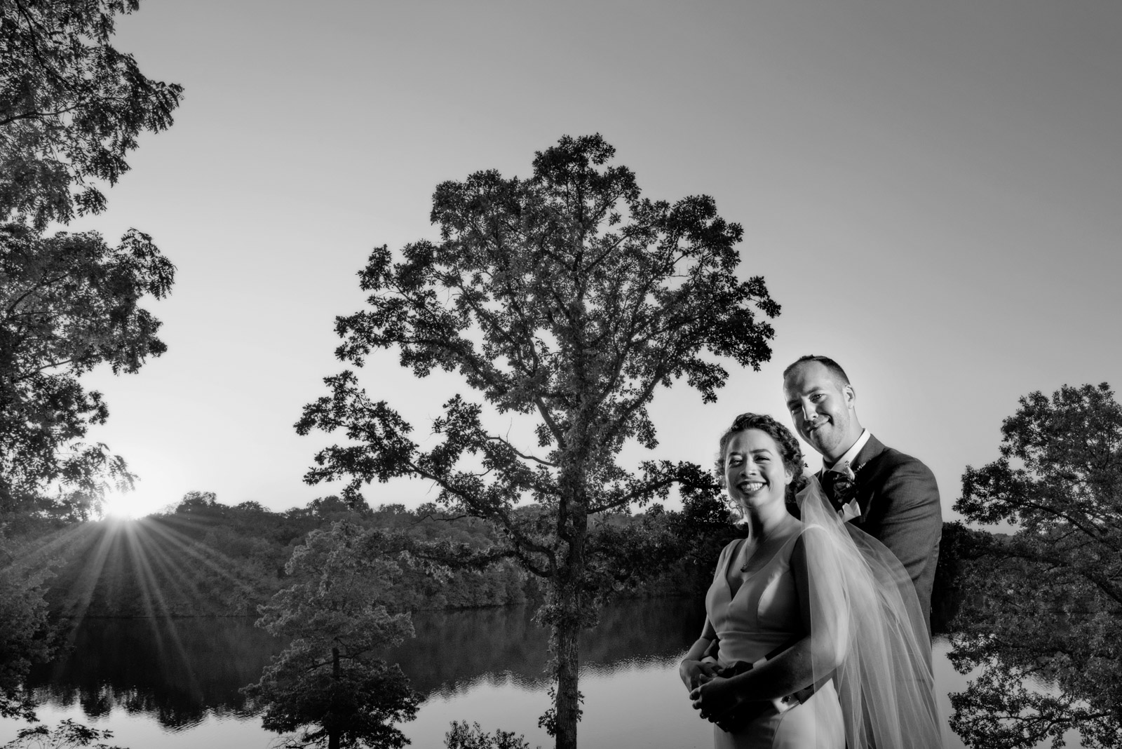 Black White Wedding Photo Eagle Ridge Resort
